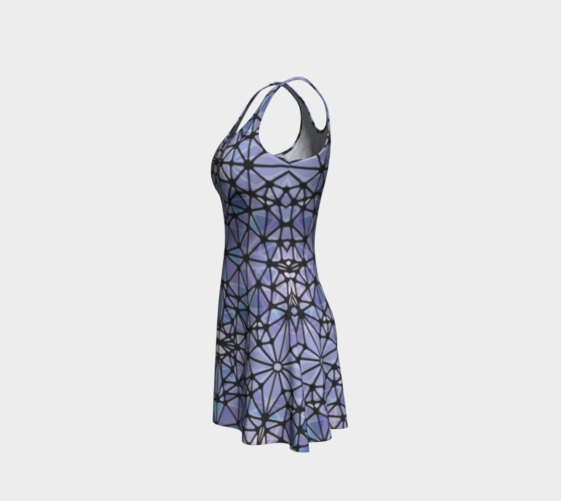 Purple and Blue Kaleidoscope Flare Dress preview #2