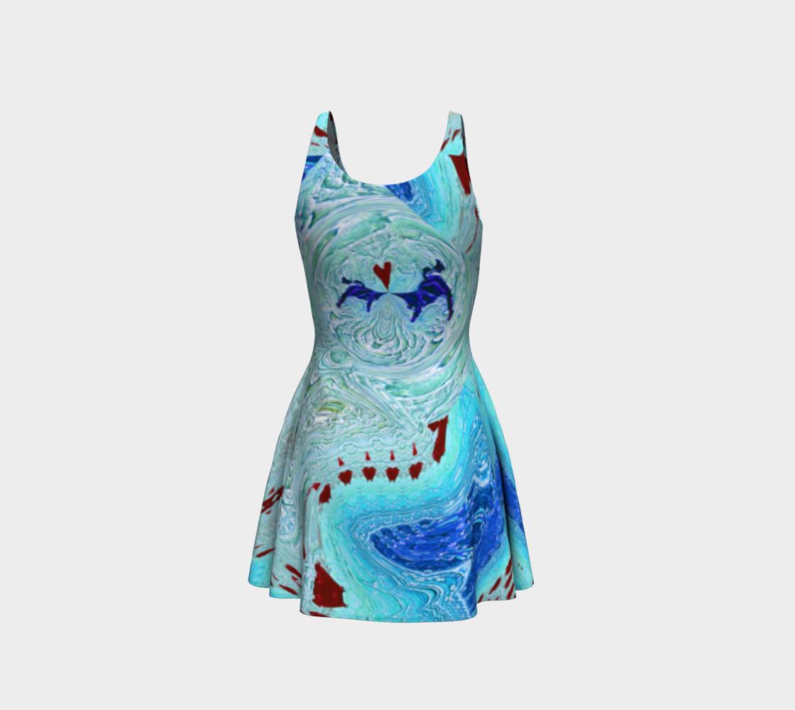 Aperçu de Ice Age Snowy-Hearts Flare Dress #3