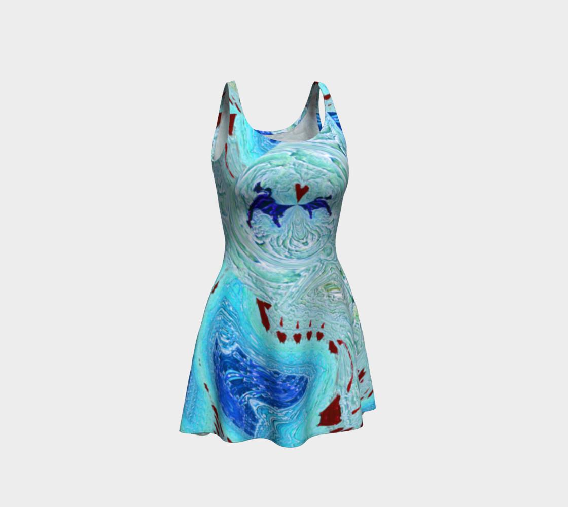 Aperçu de Ice Age Snowy-Hearts Flare Dress #1