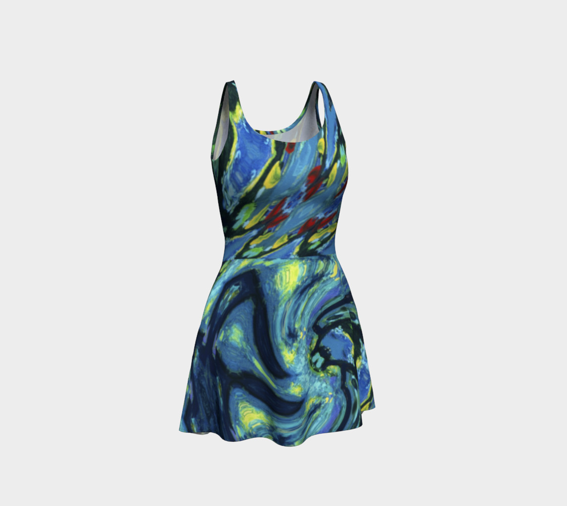 Lady Nighthawk Vine Storm Flare Dress 3D preview