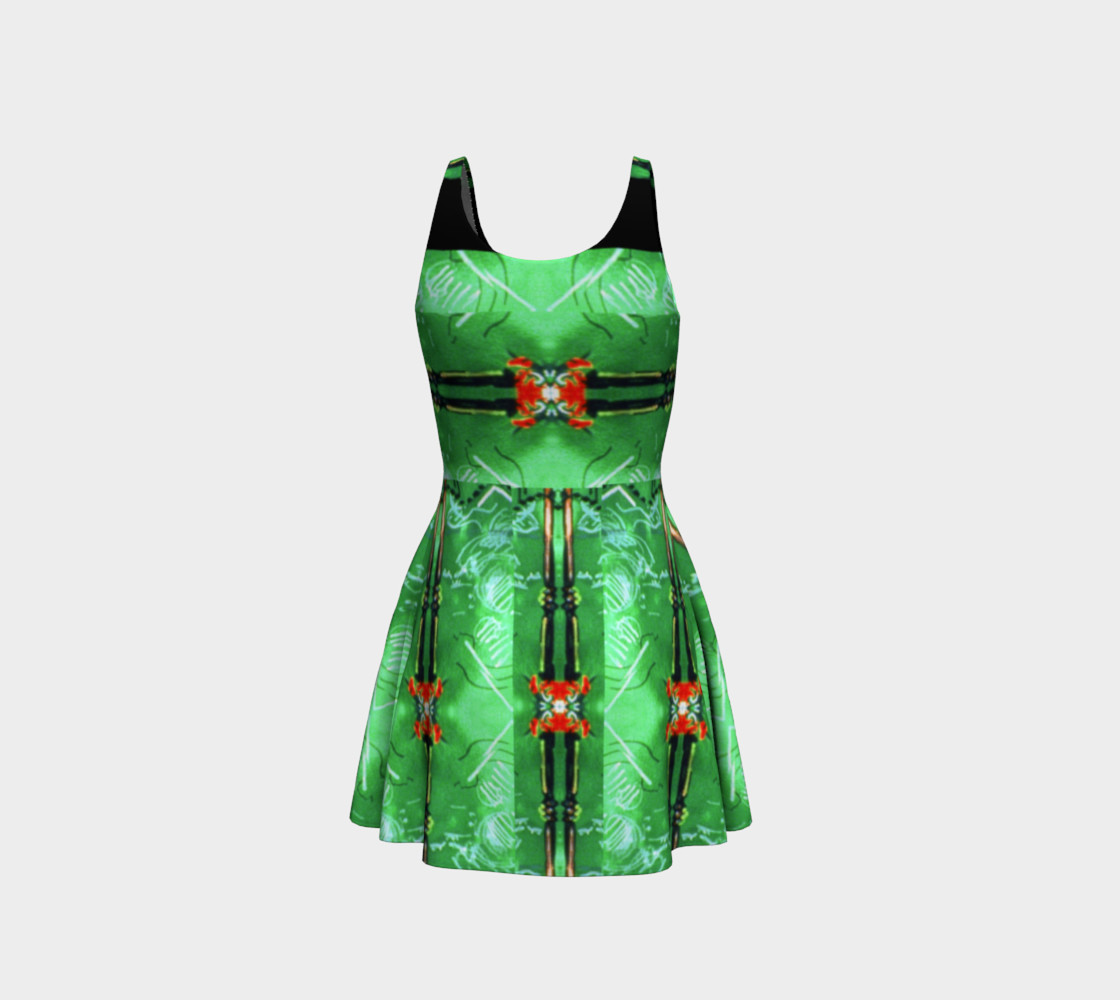 Aperçu de Emerald City Girl Red-Bow Party Dress  #3