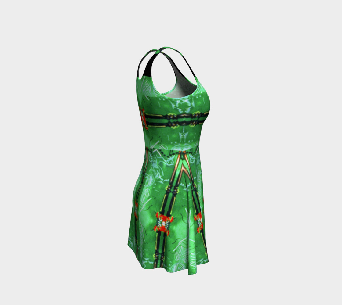 Aperçu de Emerald City Girl Red-Bow Party Dress  #4