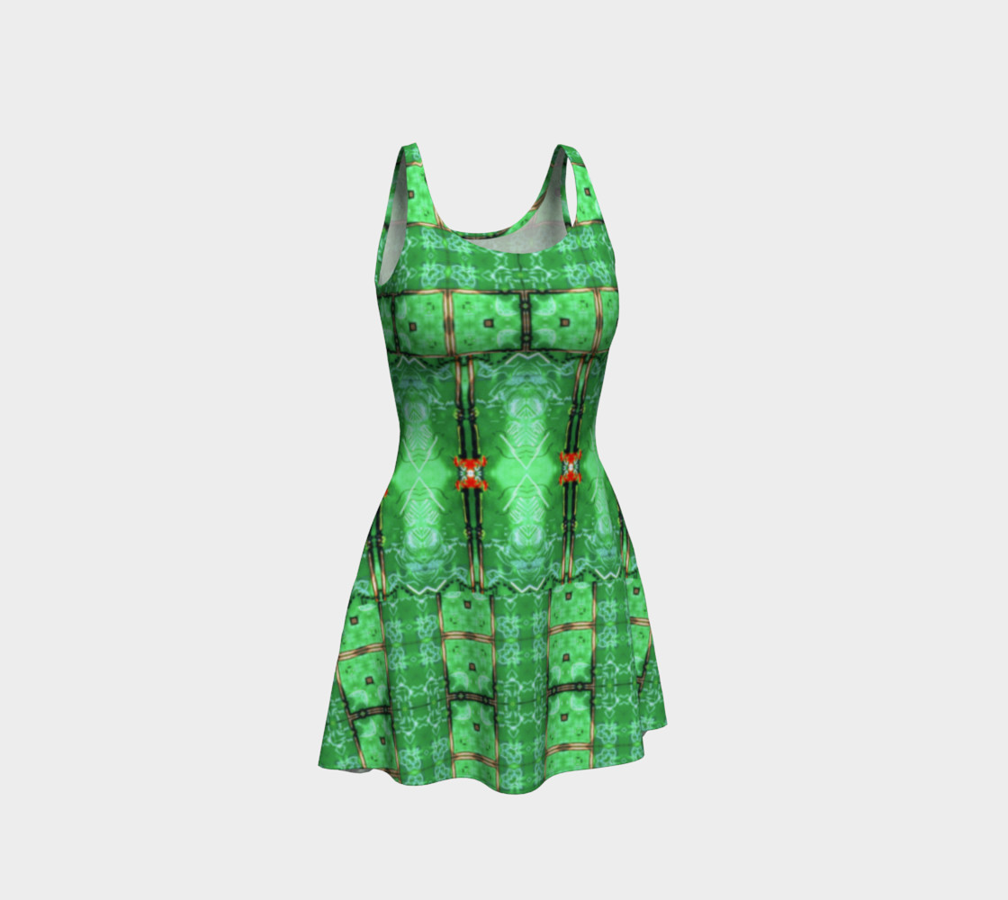 Aperçu de Emerald City Girl Virtual-Corset Dress #1