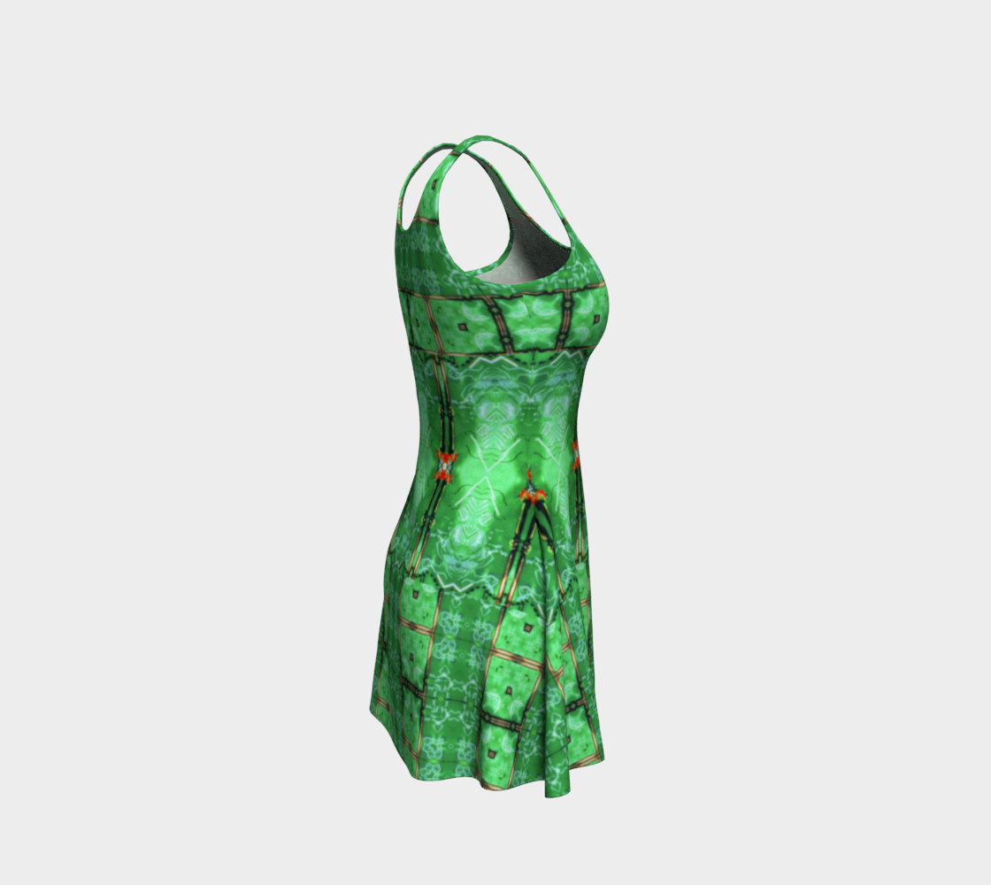 Aperçu de Emerald City Girl Virtual-Corset Dress #4