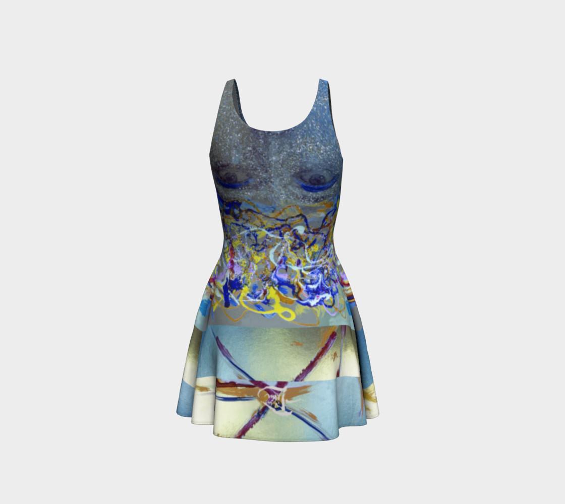 Aperçu de Glitter Queen Upside-Down Yoga Face Party Dress #3