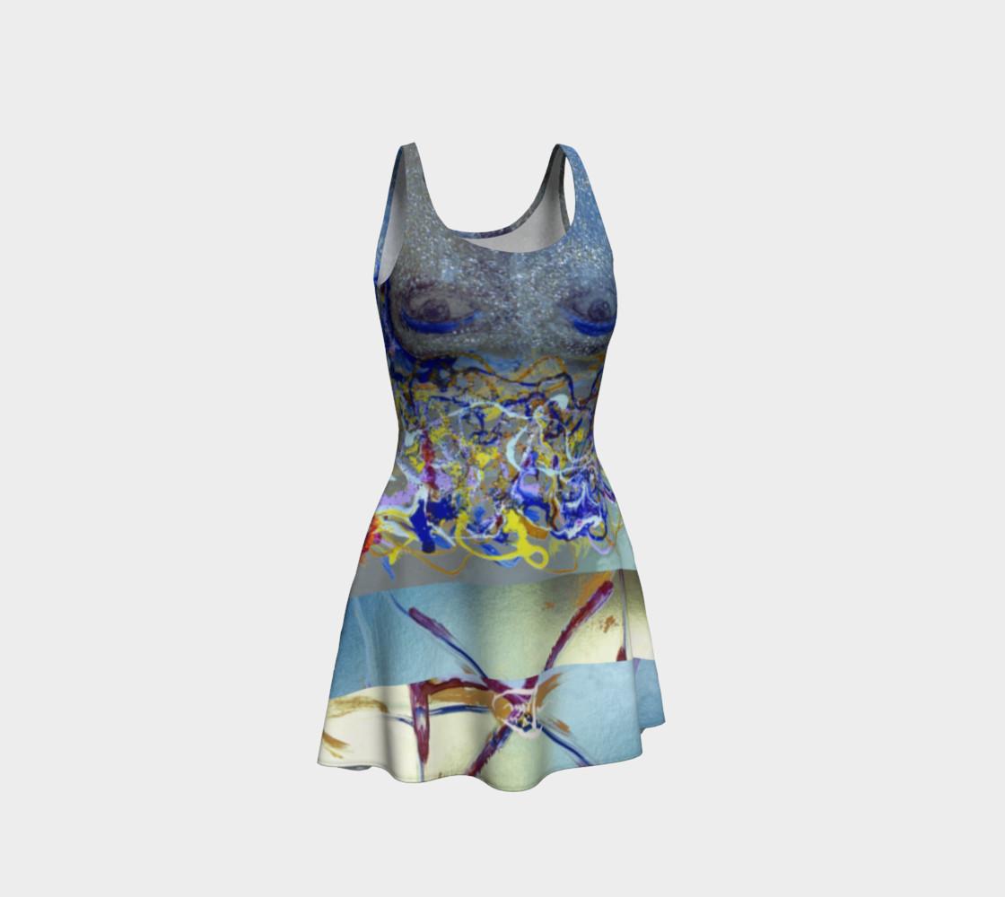 Aperçu de Glitter Queen Upside-Down Yoga Face Party Dress #1