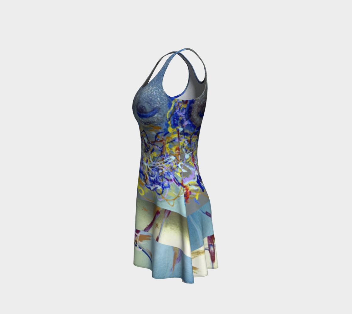 Aperçu de Glitter Queen Upside-Down Yoga Face Party Dress #2