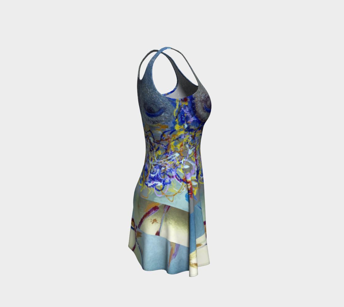 Aperçu de Glitter Queen Upside-Down Yoga Face Party Dress #4