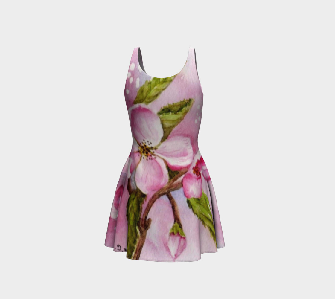 Pink Blossoms Flare Dress preview #3