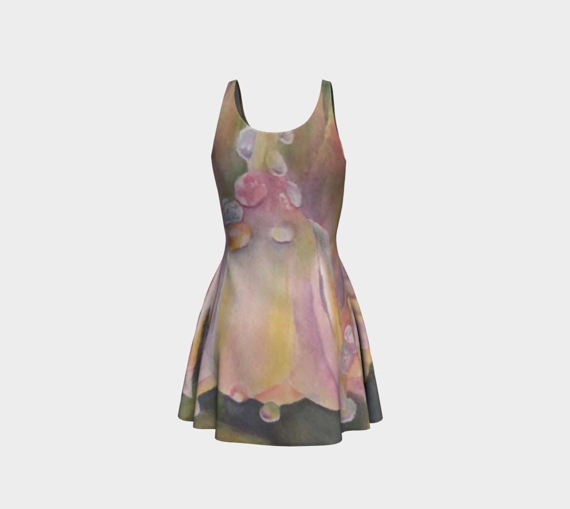 Pastel Dew Drop Flare Dress preview #3