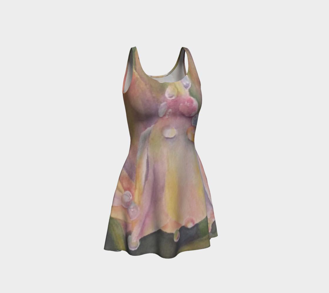 Pastel Dew Drop Flare Dress preview #1