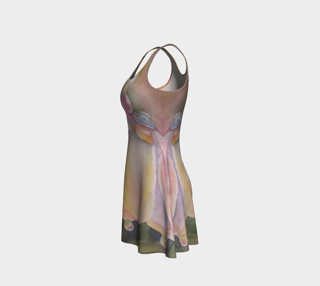 Pastel Dew Drop Flare Dress preview #2