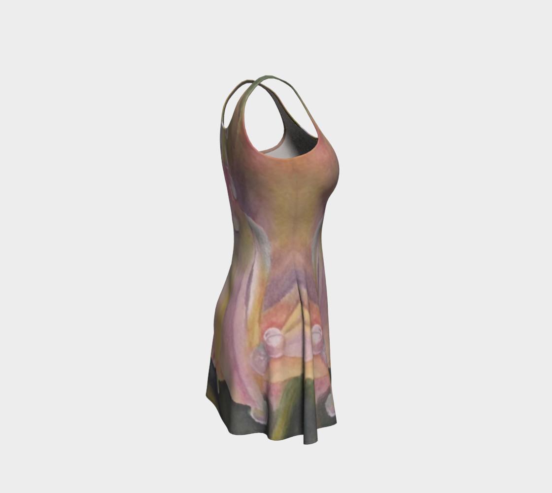 Pastel Dew Drop Flare Dress preview #4