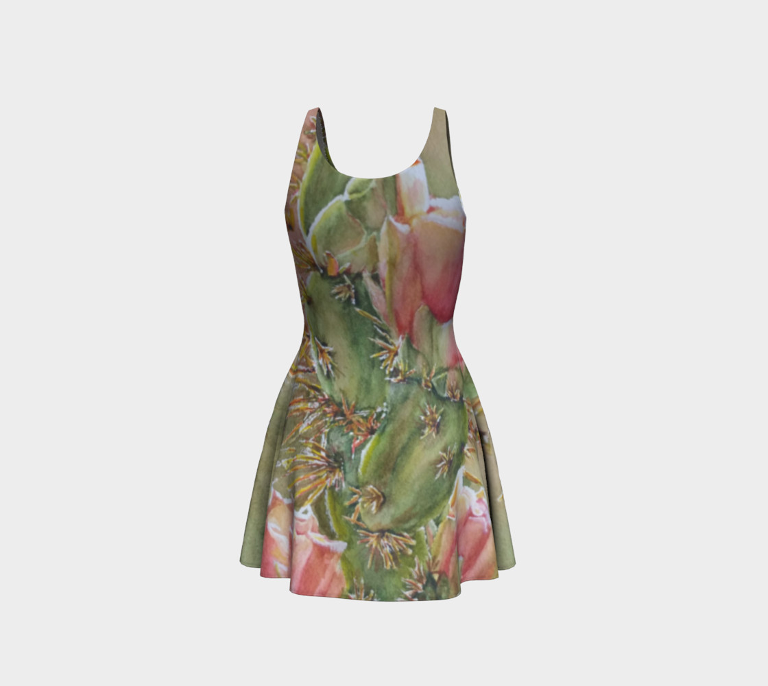 Peach Cactus Flare Dress preview #3