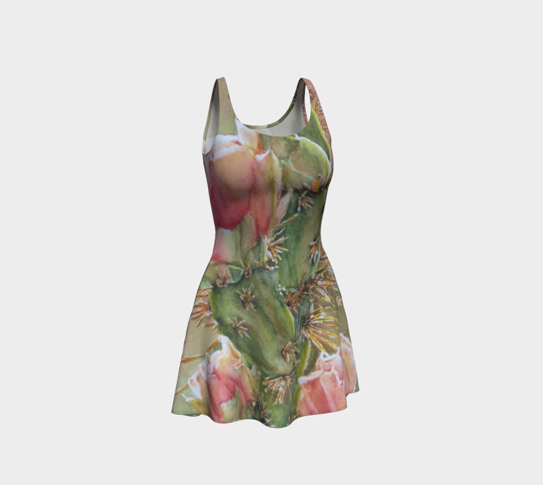 Peach Cactus Flare Dress preview #1