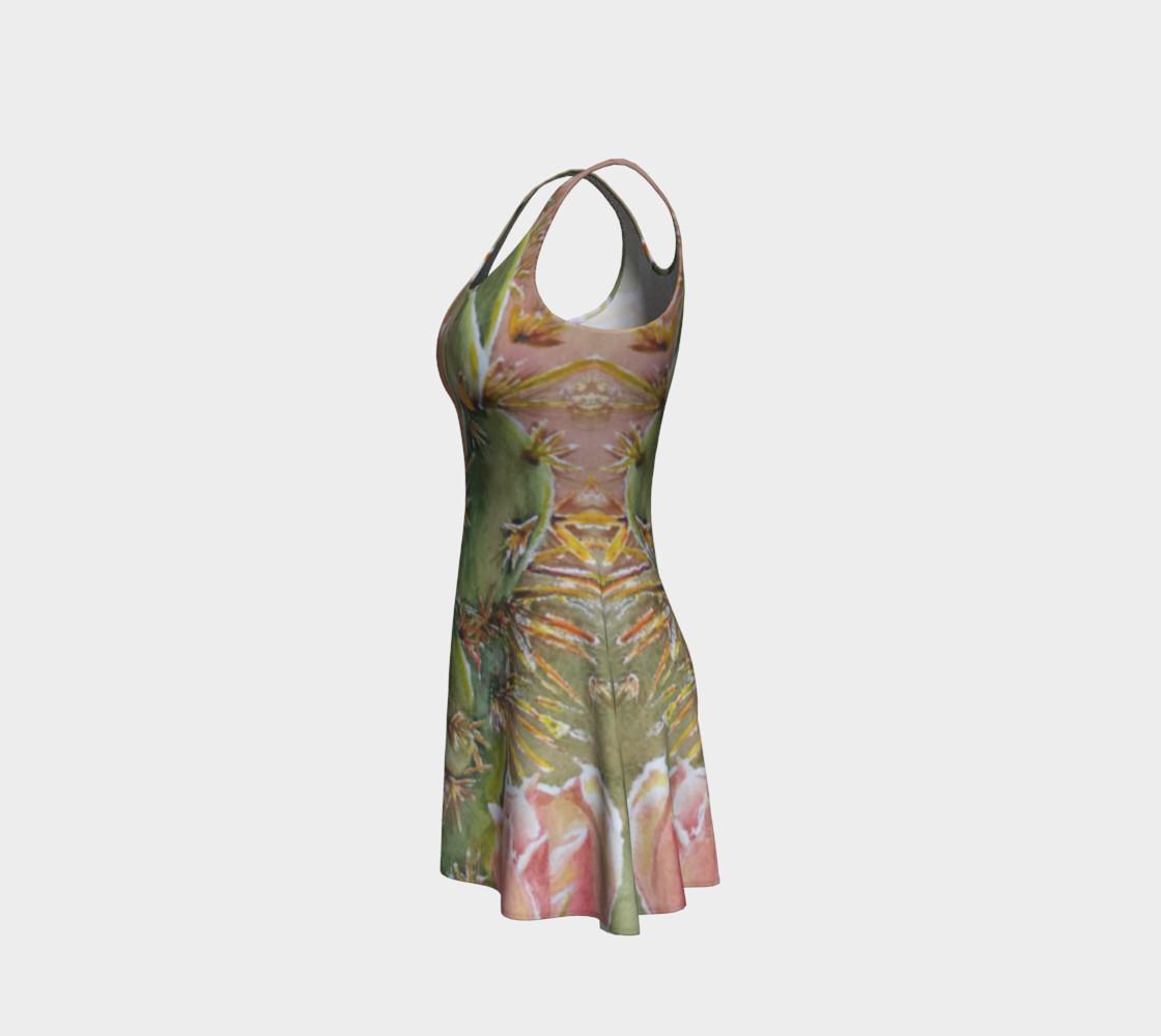 Peach Cactus Flare Dress preview #2