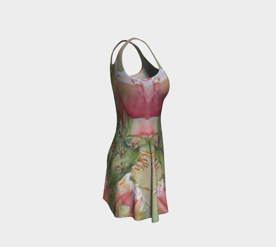 Peach Cactus Flare Dress preview #4