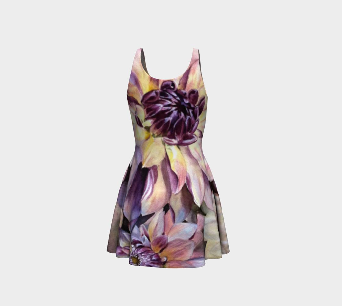 Dahlia Flower Flare Dress preview #3