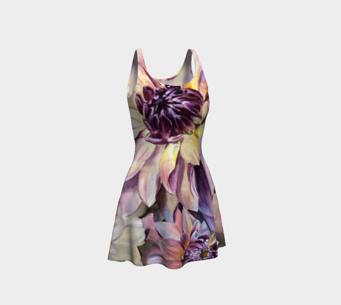 Dahlia Flower Flare Dress preview #1