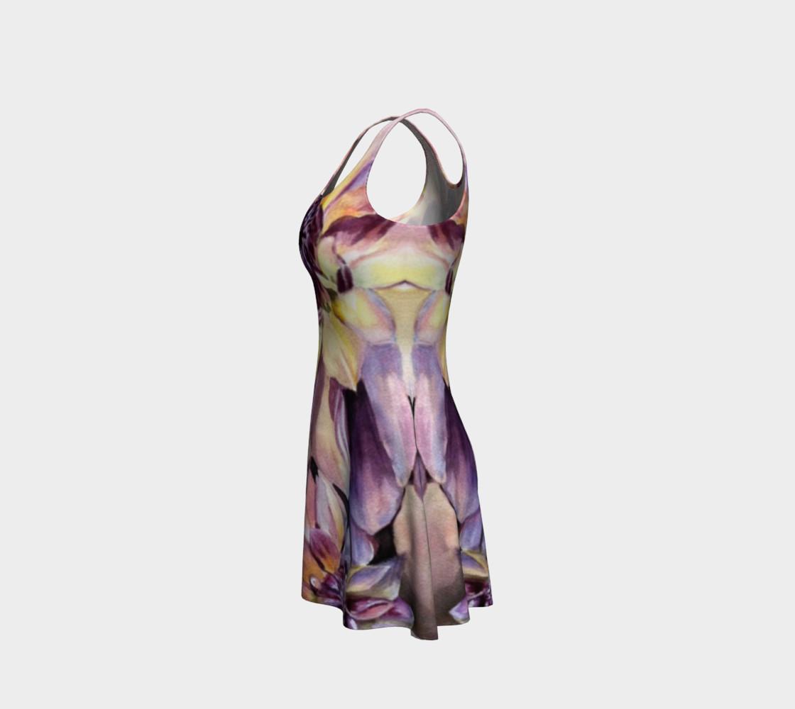 Dahlia Flower Flare Dress preview #2