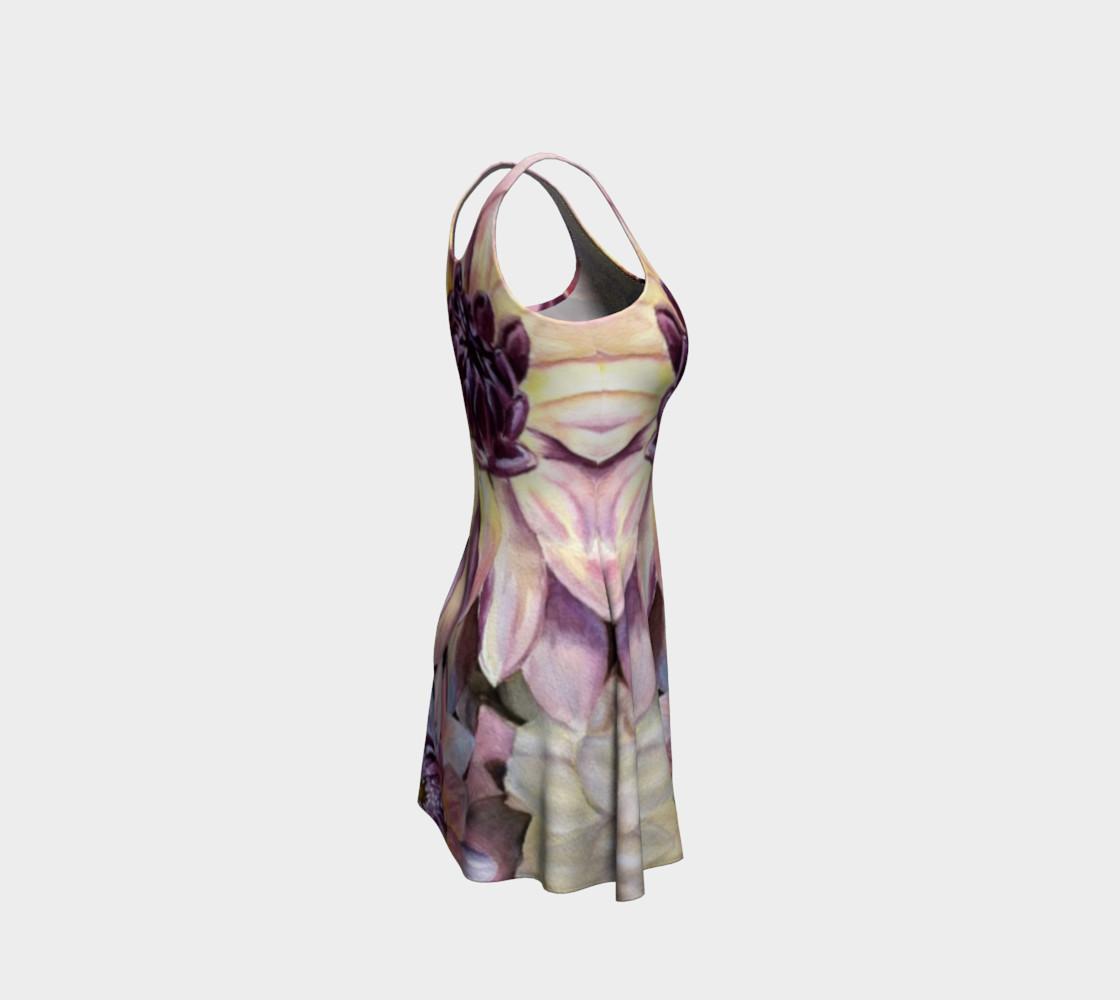 Dahlia Flower Flare Dress preview #4