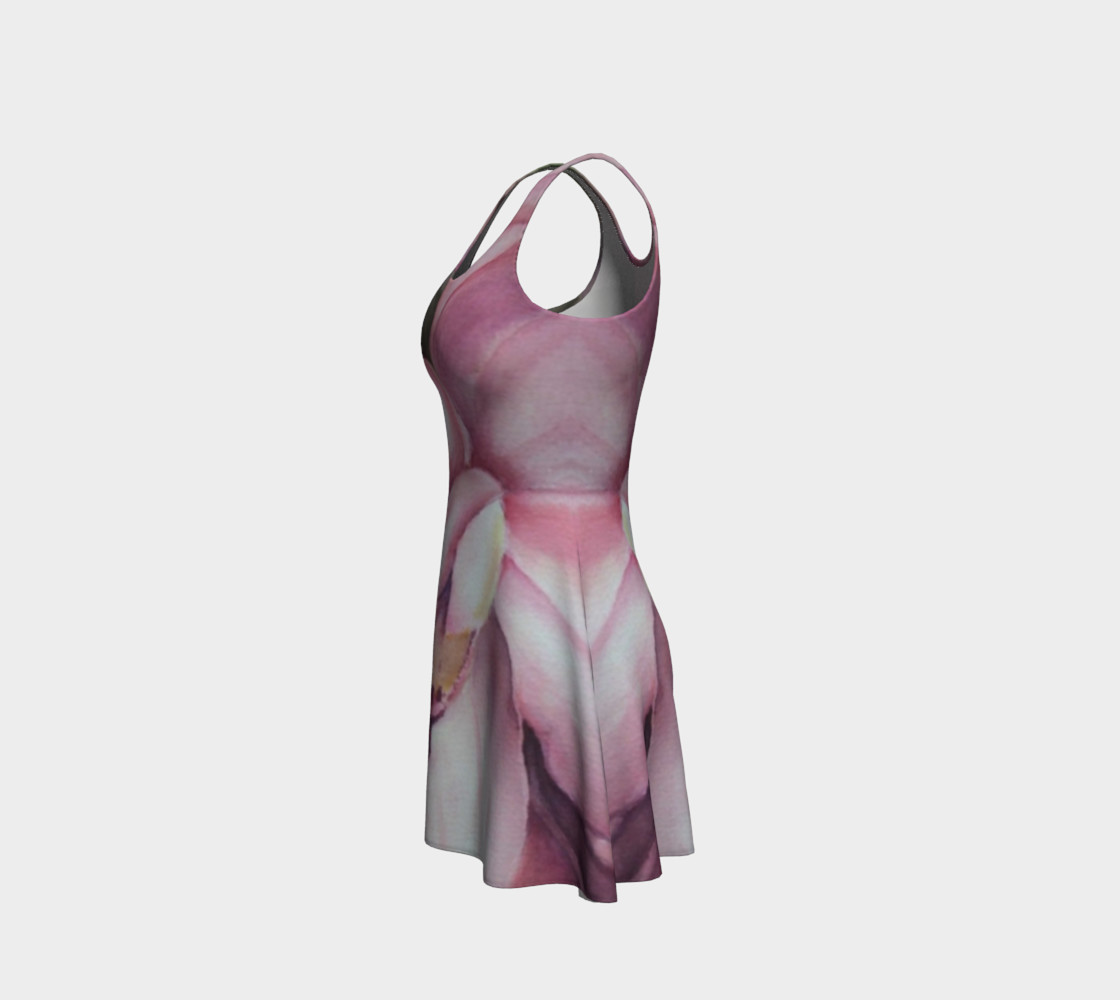 Exotic Orchid 2 Flare Dress preview #2