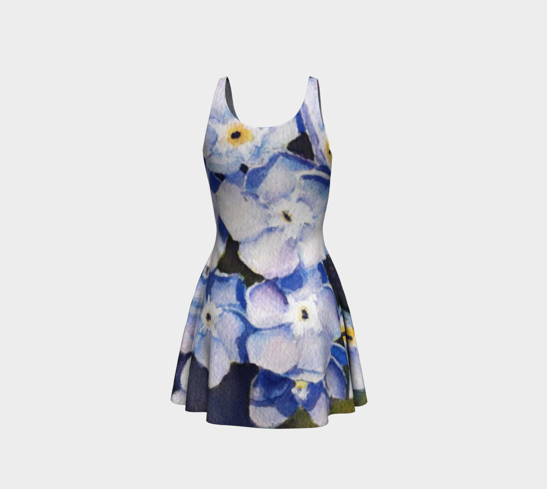 Forget-me-nots Flare Dress preview #3