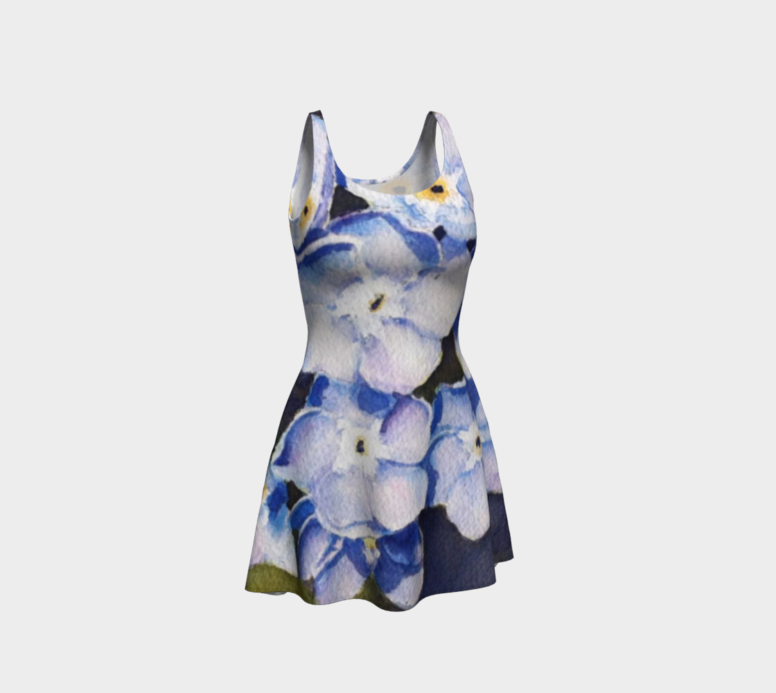 Forget-me-nots Flare Dress preview #1