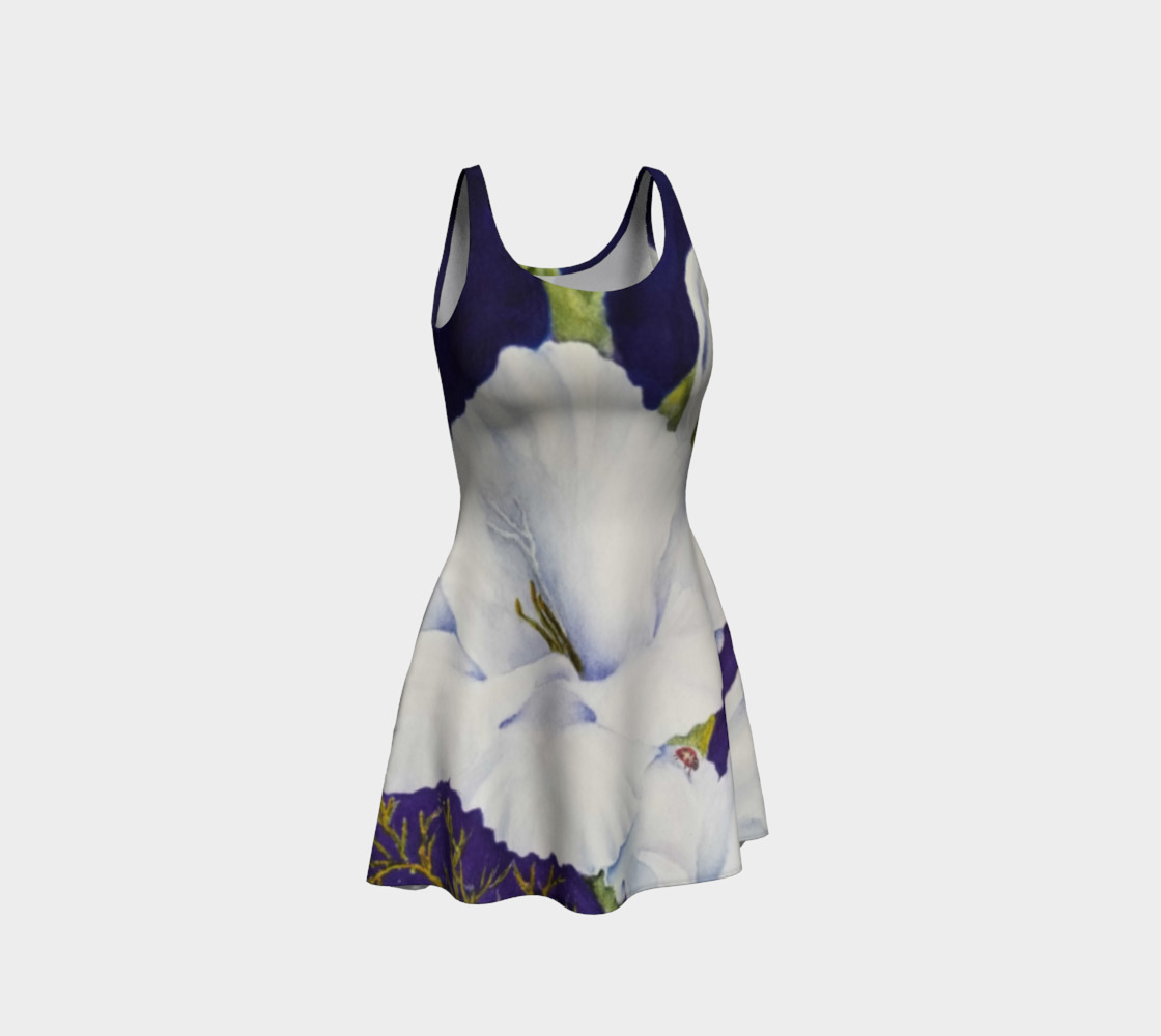 Gladiola Ladybug Flare Dress 3D preview