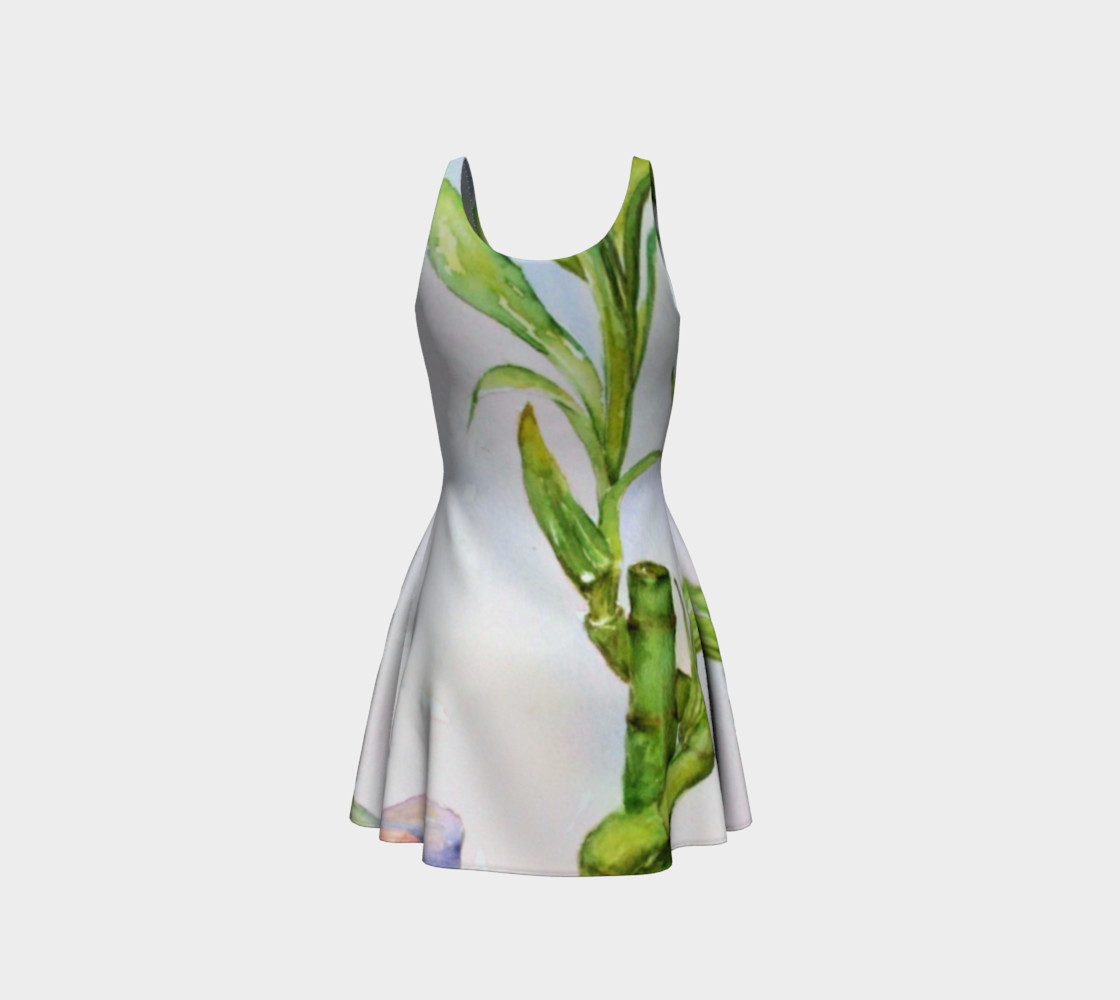 Lucky Bamboo Flare Dress preview #3