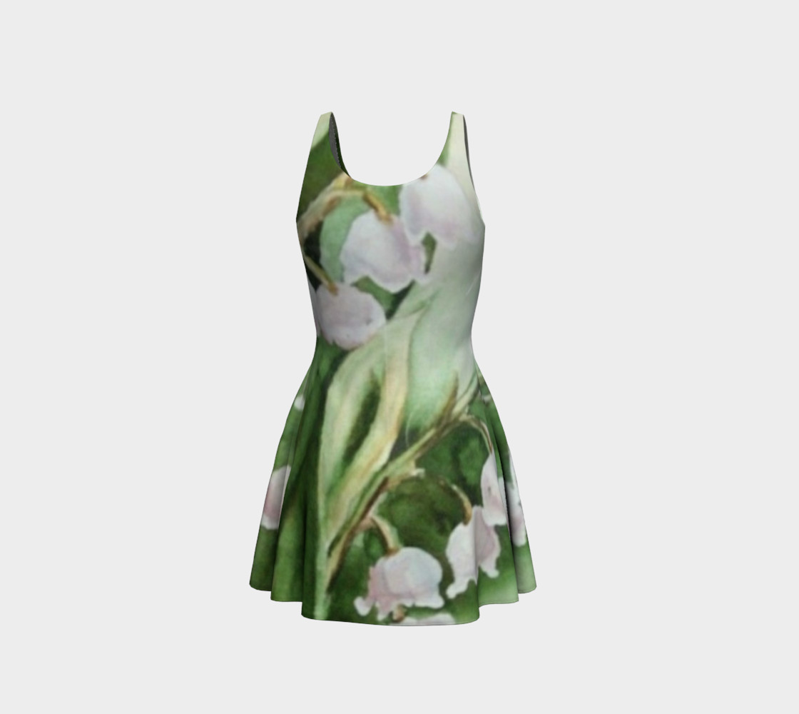 Valley Fronds Flare Dress preview #3