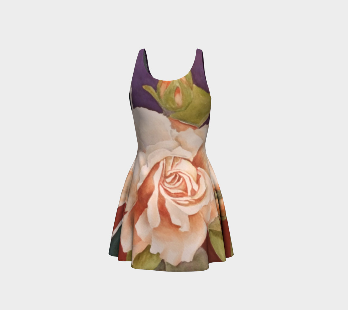 Antique Rose Flare Dress preview #3