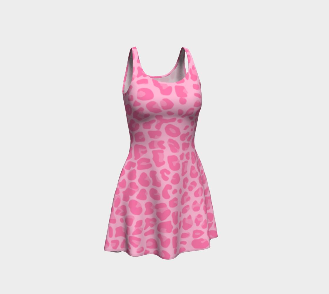 Pastel pink leopard print dress preview #1