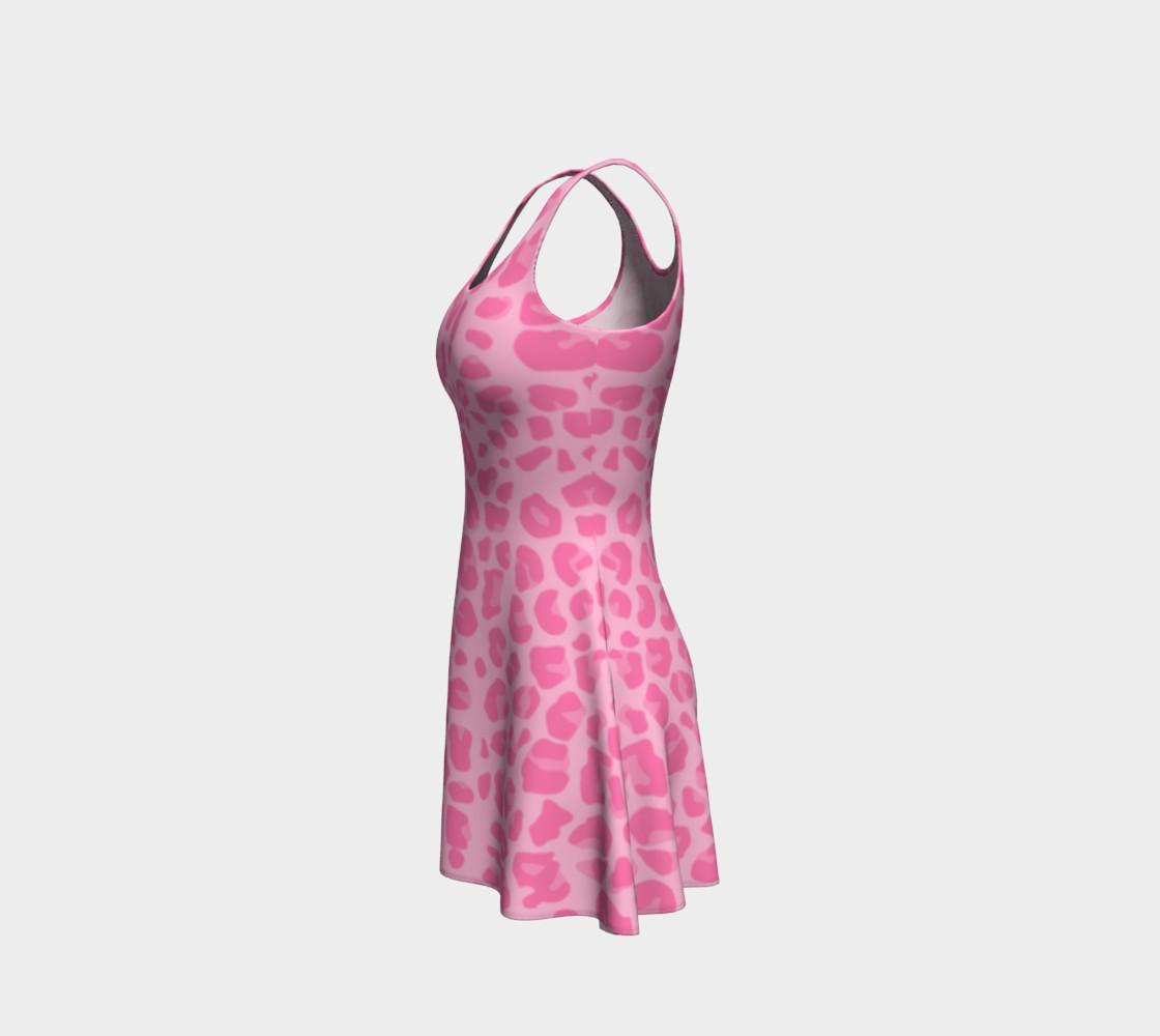 Pastel pink leopard print dress preview #2