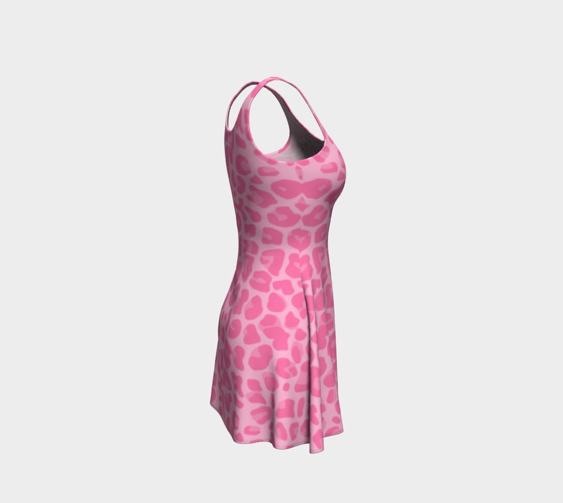 Pastel pink leopard print dress preview #4