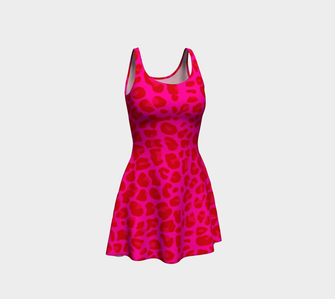 Neon pink leopard print dress preview #1