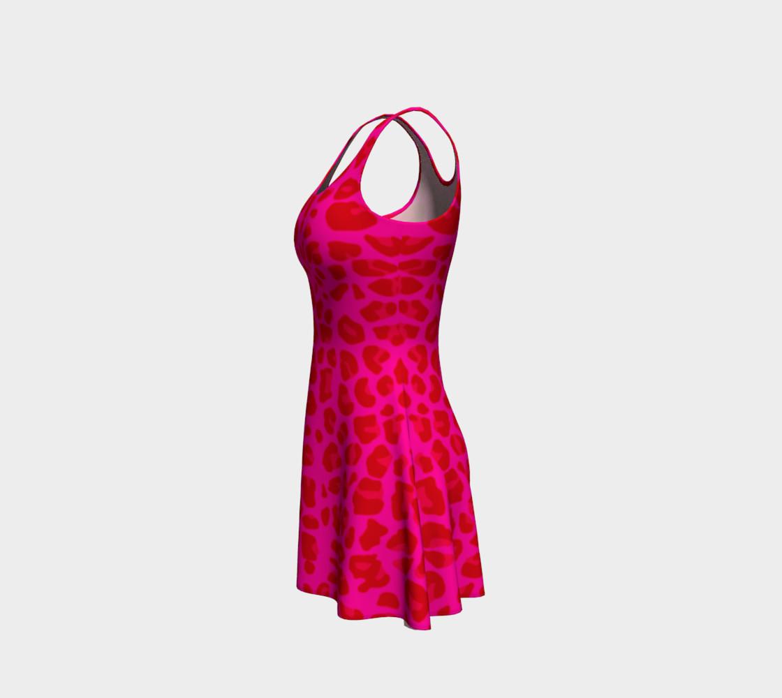 Neon pink leopard print dress preview #2