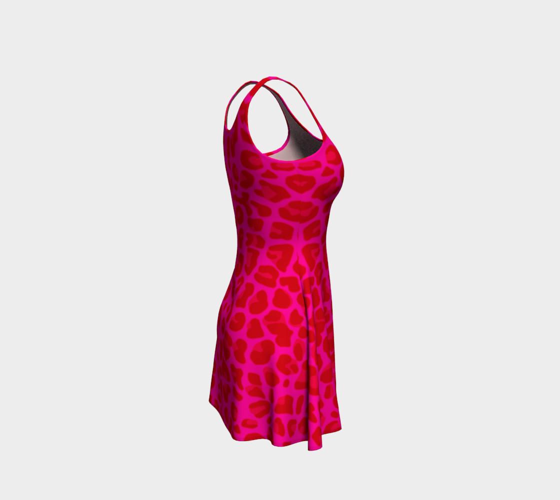 Neon pink leopard print dress preview #4