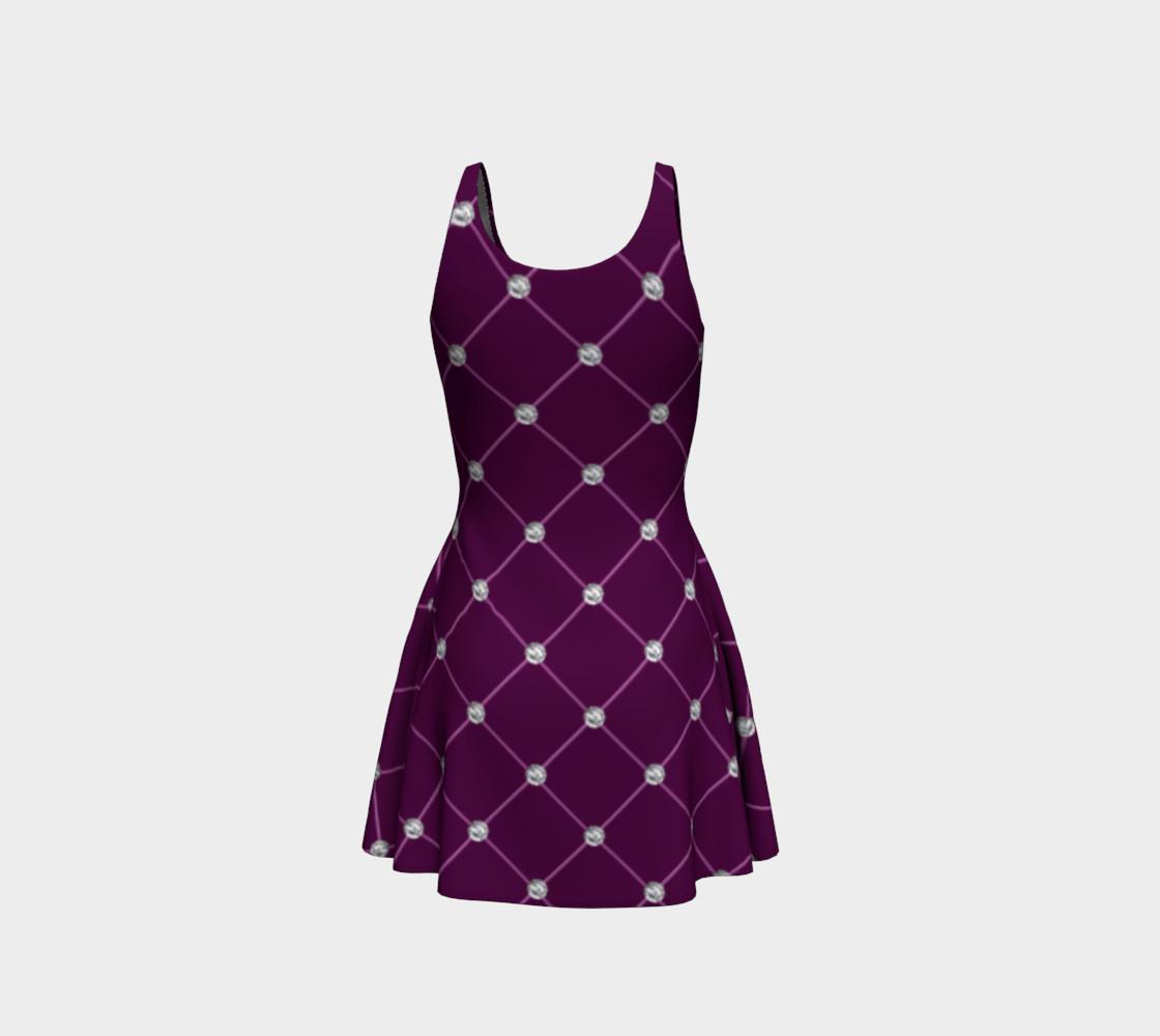 Faux maroon purple tuft diamonds dress preview #3