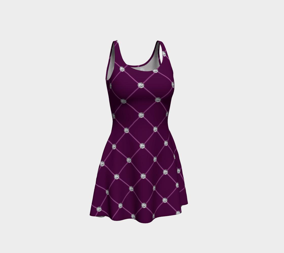 Faux maroon purple tuft diamonds dress preview #1