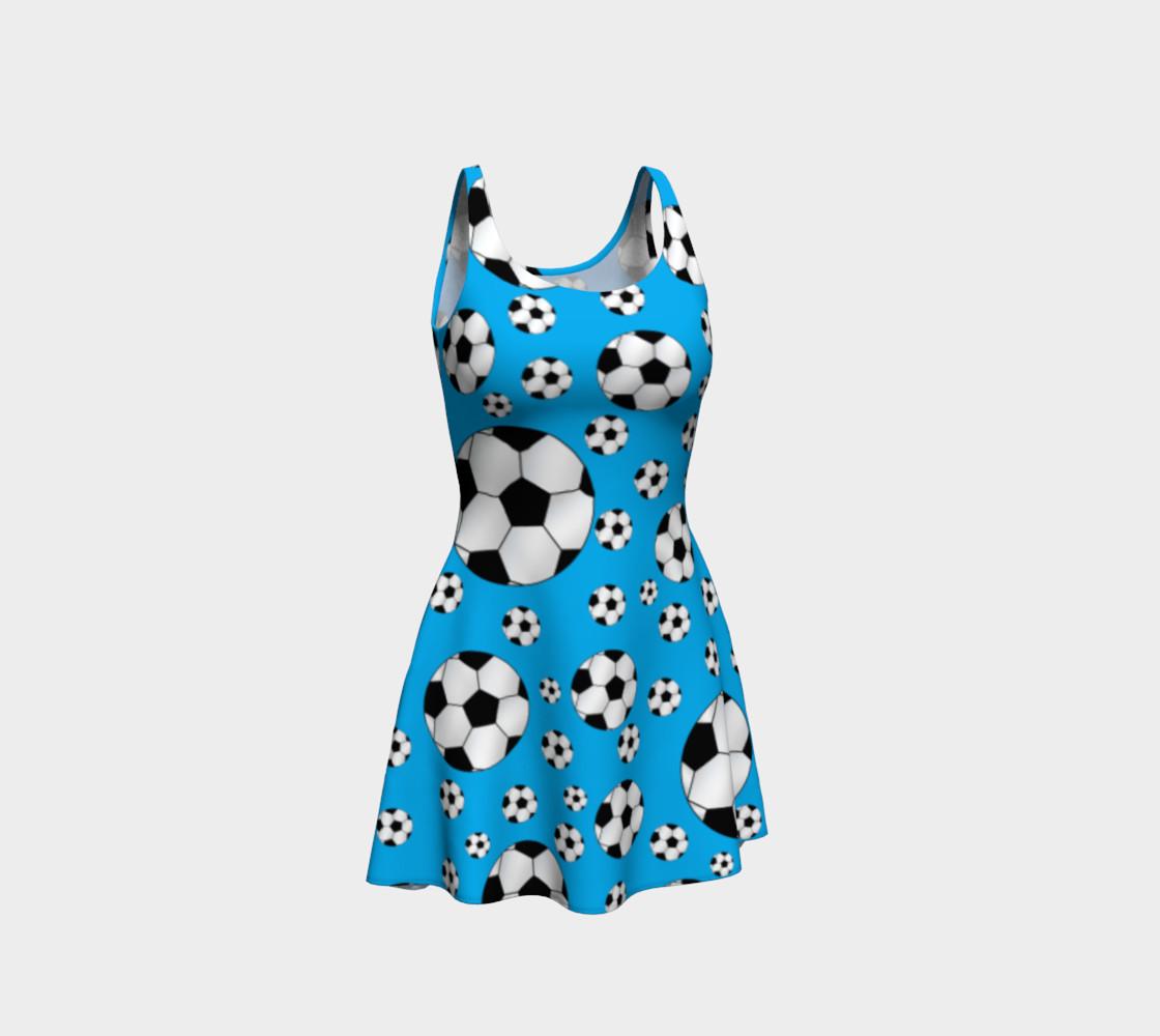 Sky blue soccer balls dress preview #1