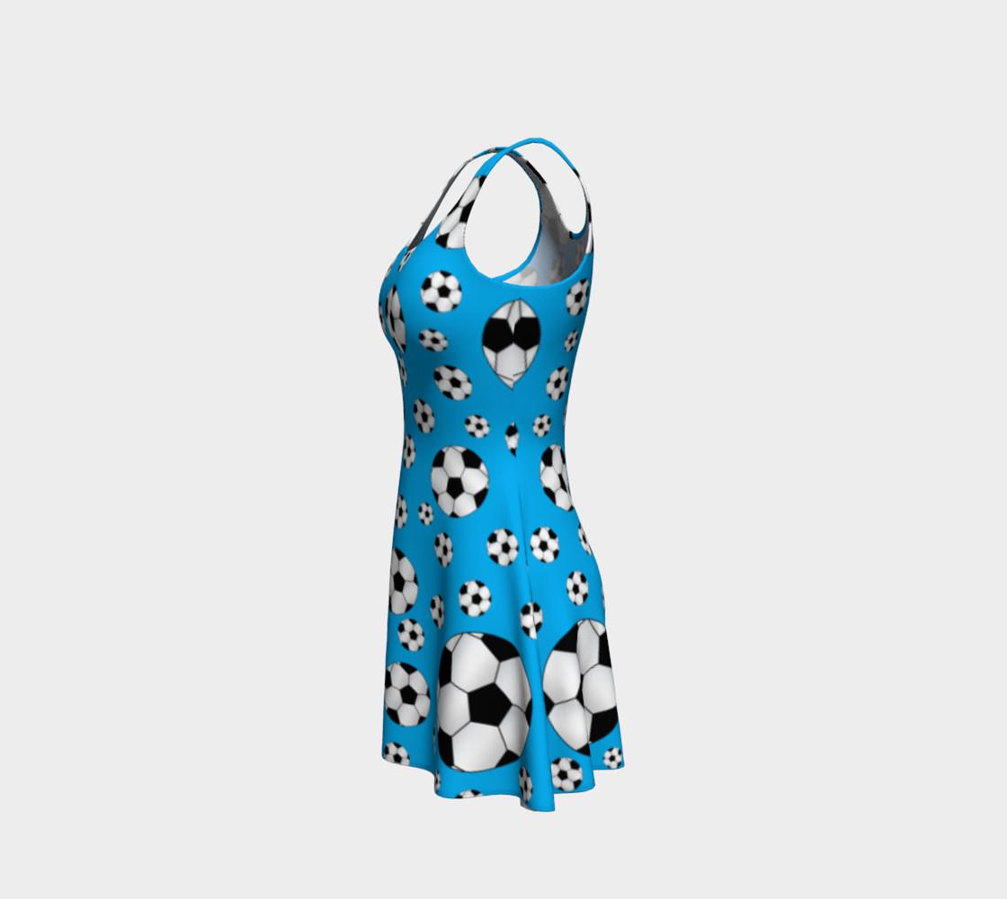 Sky blue soccer balls dress preview #2