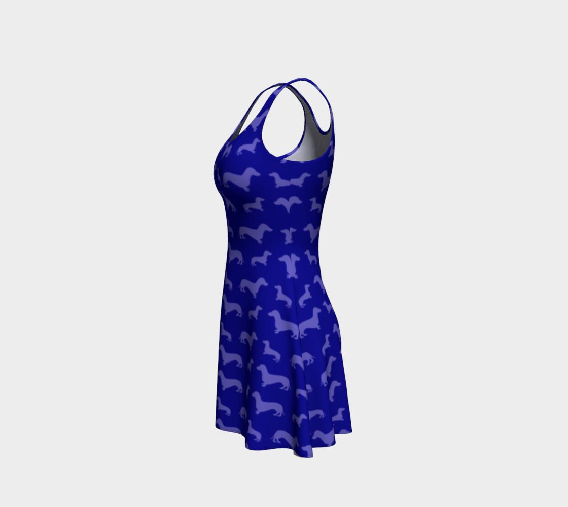 Blue dachshund dress preview #2