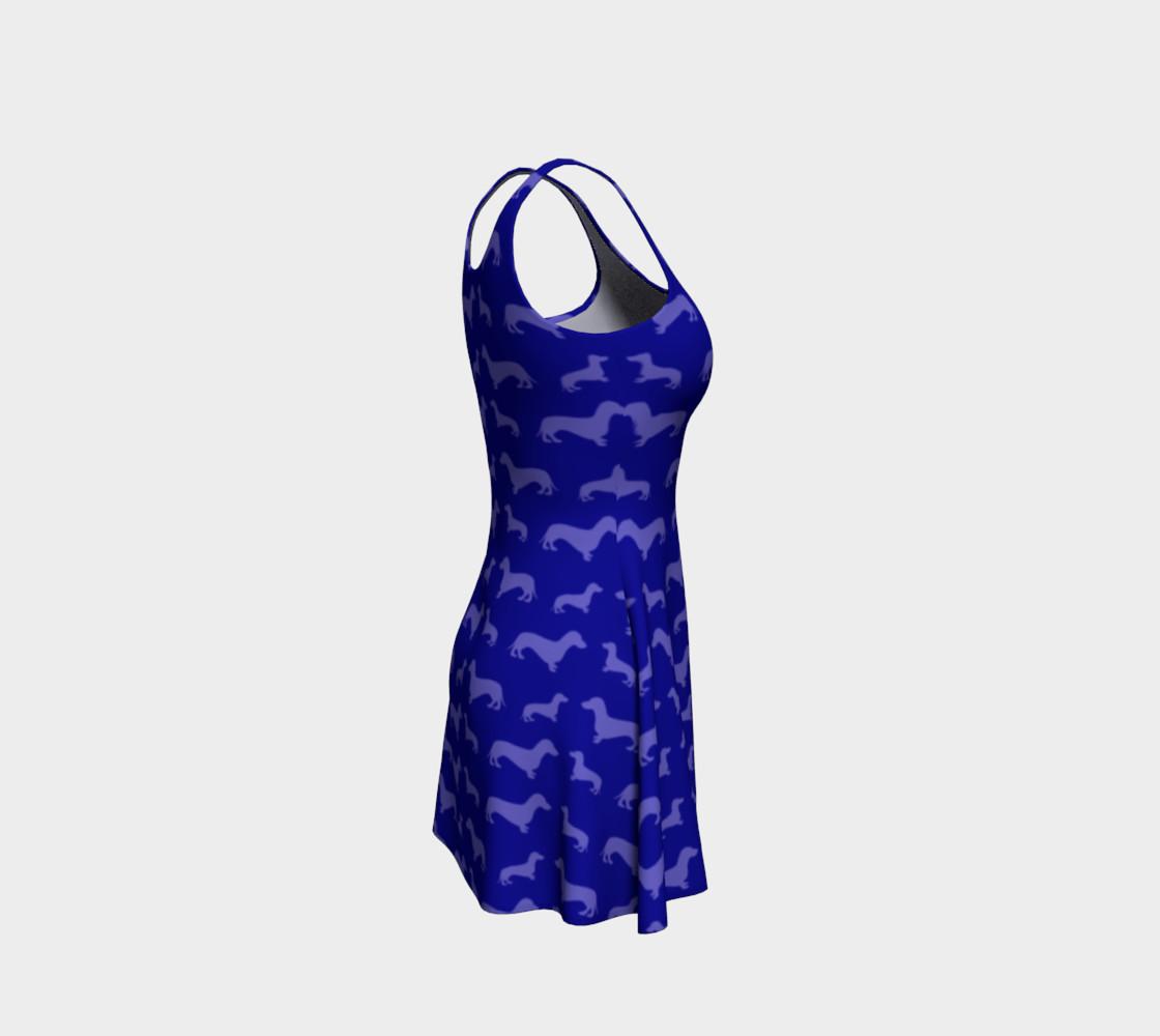 Blue dachshund dress preview #4