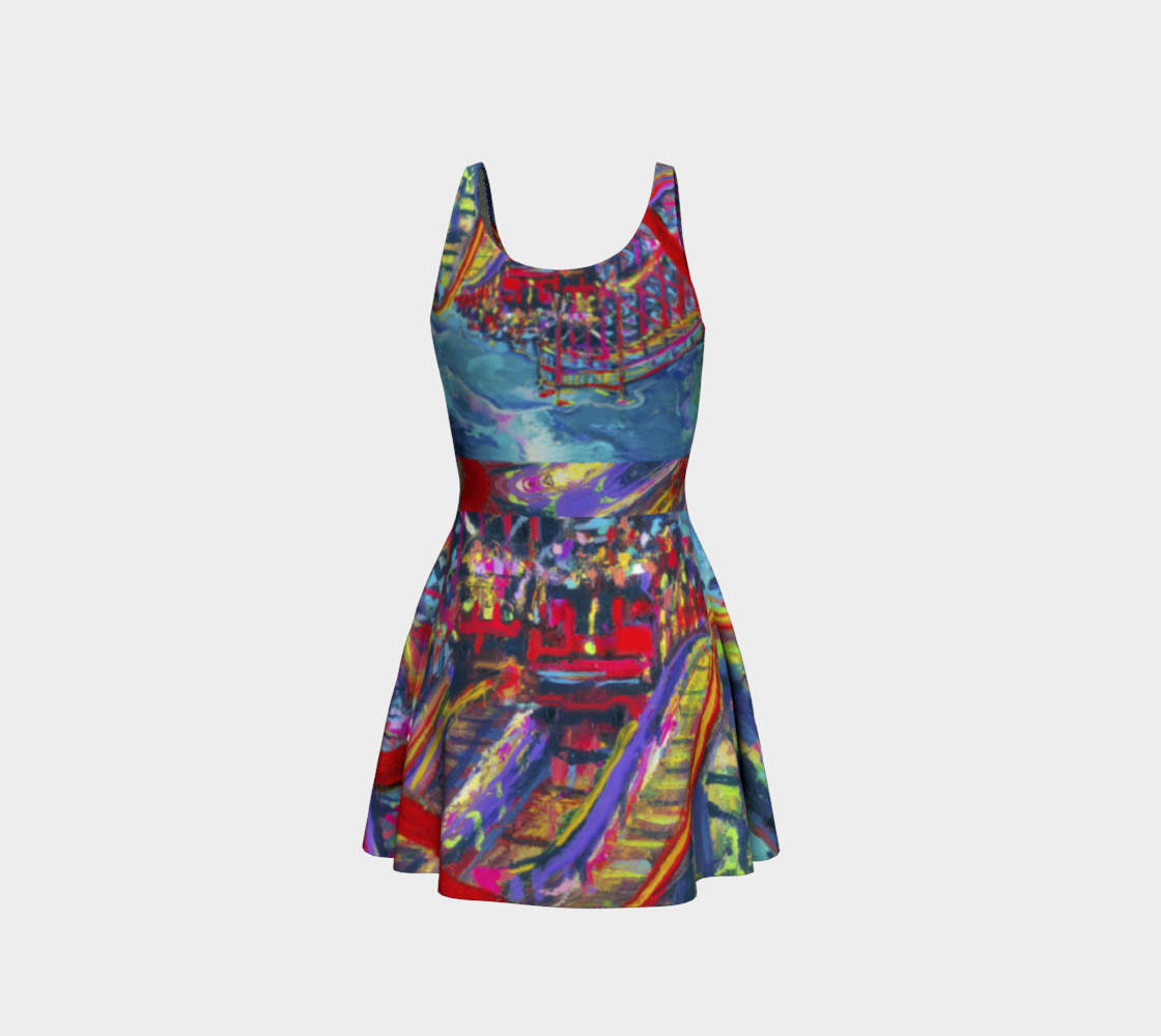 Roller Coaster 360 Flare Dress preview #3