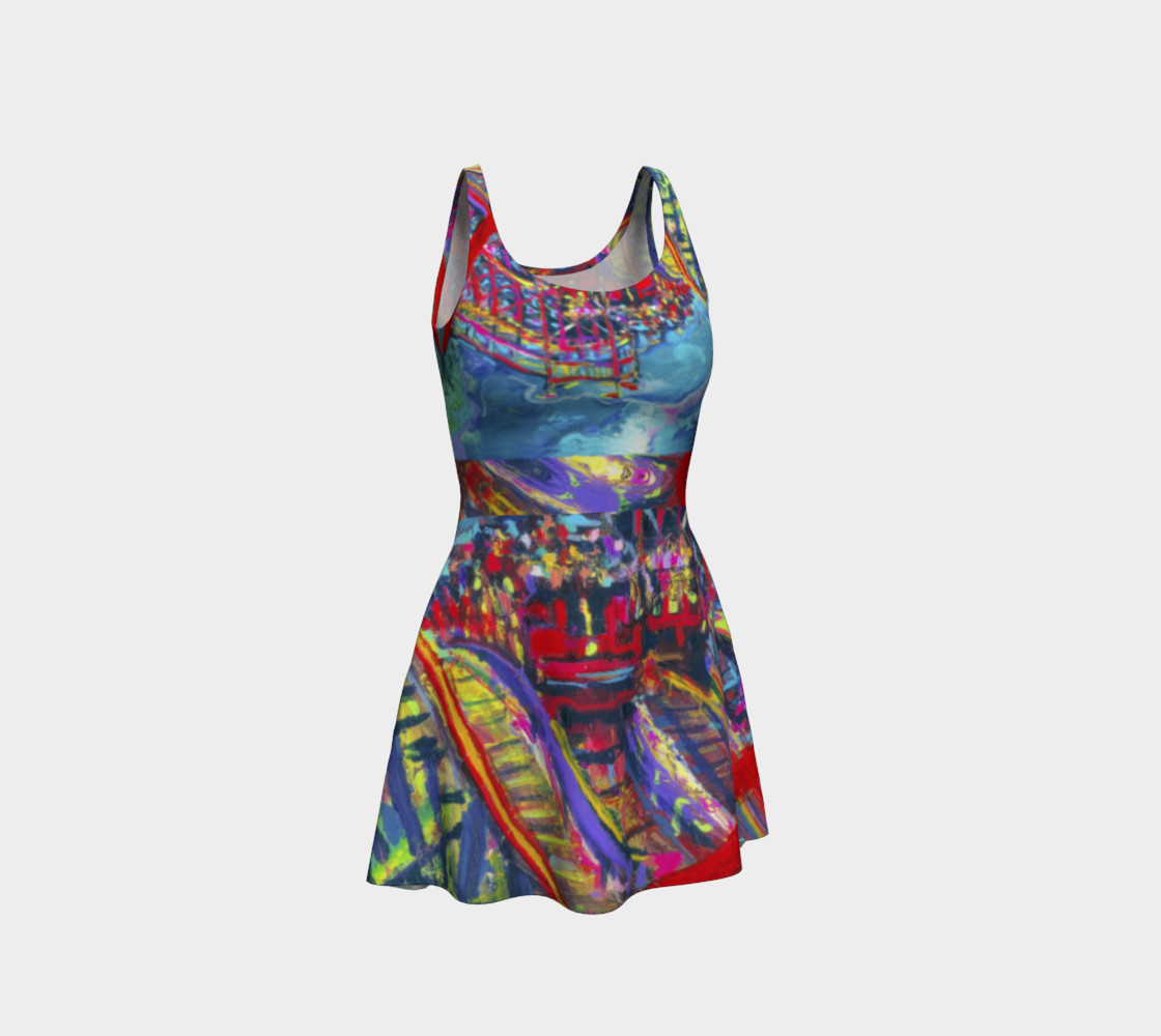 Roller Coaster 360 Flare Dress preview #1
