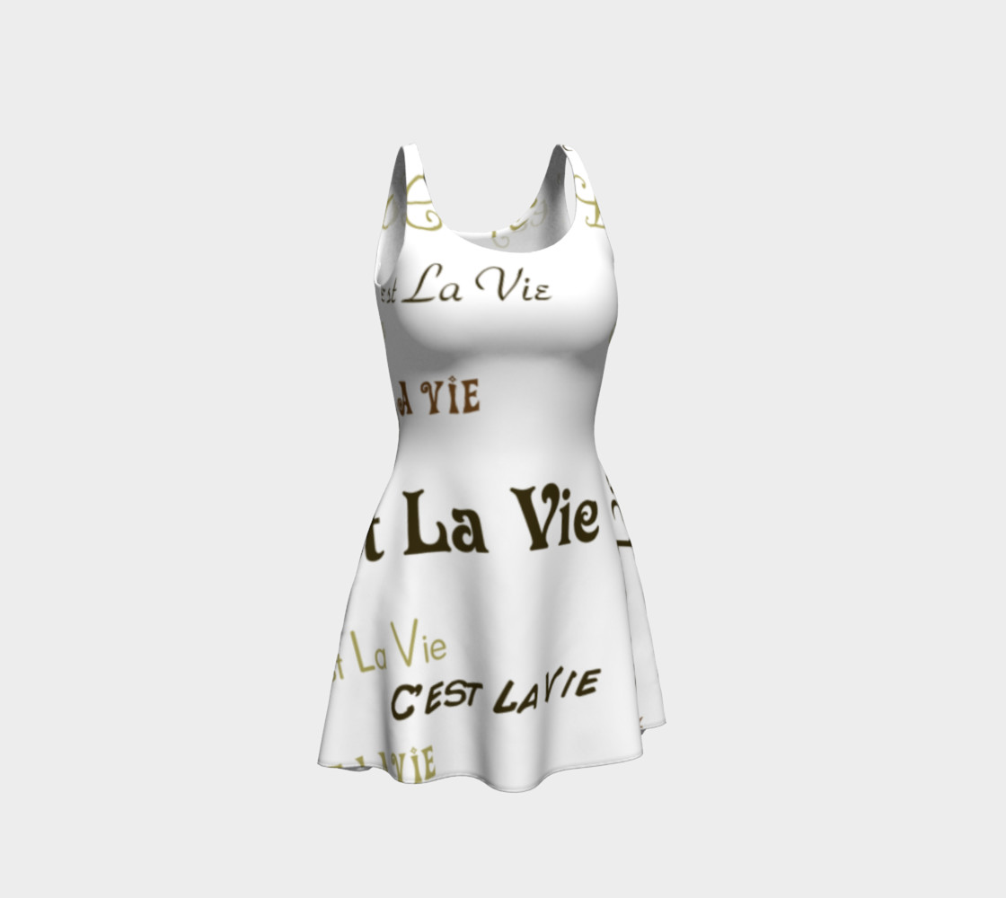 Mocha C'est La Vie Flare Dress preview #1