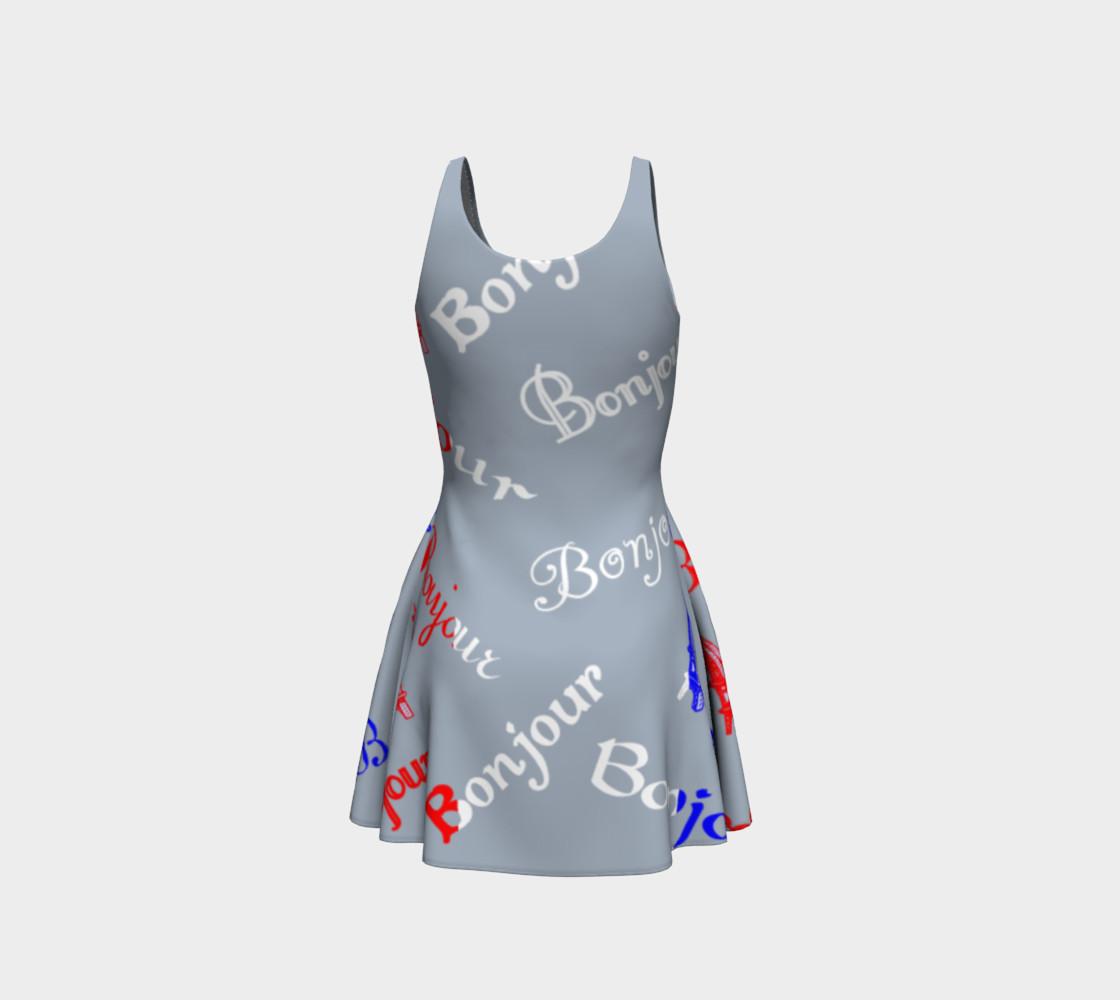 Aperçu de French Flag Bonjour Flare Dress #3