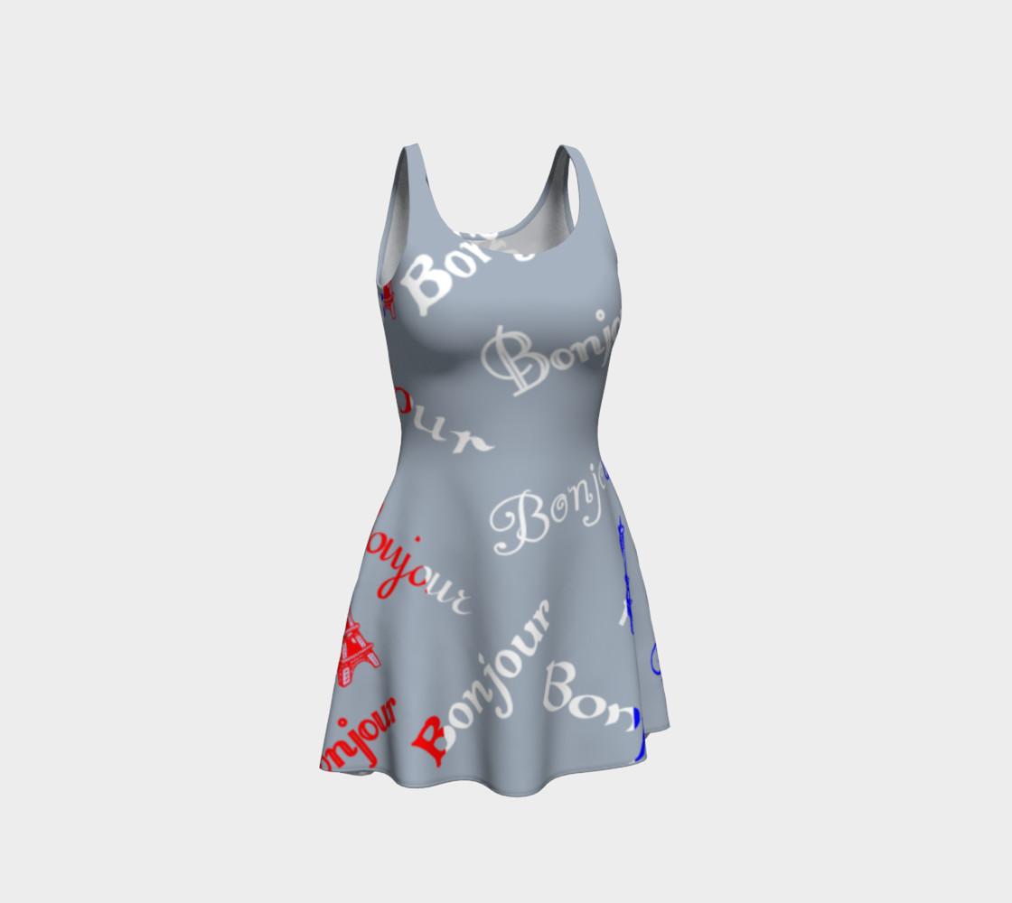 Aperçu de French Flag Bonjour Flare Dress #1