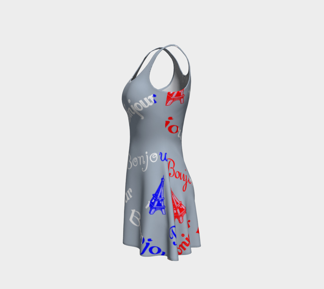 French Flag Bonjour Flare Dress preview #2